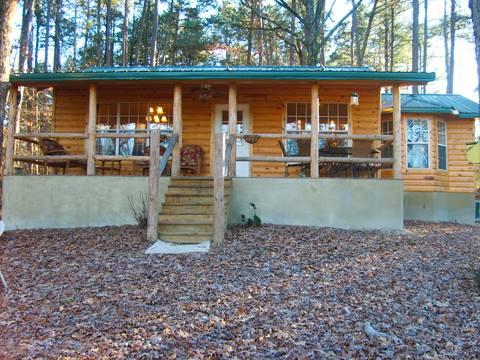 Front of the cabin - Doc's Place-Luxury cabin with hot tub, ATV trails, and secluded in the woods - Mena - rentals