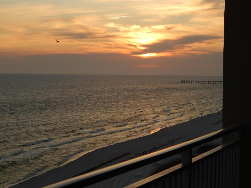 Sunset from Balcony - 5 Star Luxury 1 Bedroom at Emerald Beach - Panama City Beach - rentals