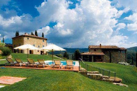 Authentic La Maccinaia boasts panoramic views, pool & gardens - Image 1 - Chianti - rentals