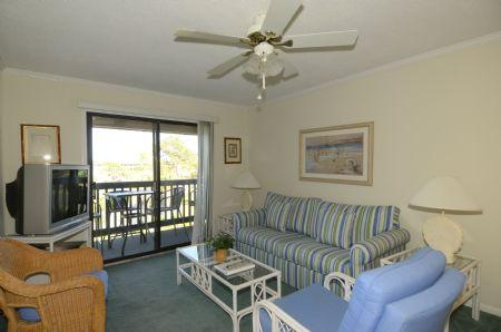 Living Room with New Couch - 55 - Hilton Head - rentals
