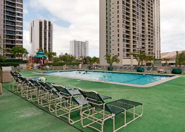 "Pool Area - Oceanview and completely renovated and is now ""Home Away from Home""! - Honolulu - rentals"