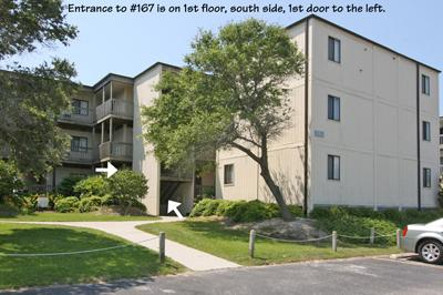 Entrance to Building 6, Topsail Reef - Topsail Reef 167 - BLD 6 - North Topsail Beach - rentals