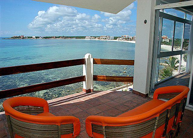 Ocean side terrace - La Sirena, Unit #14 - Akumal - rentals
