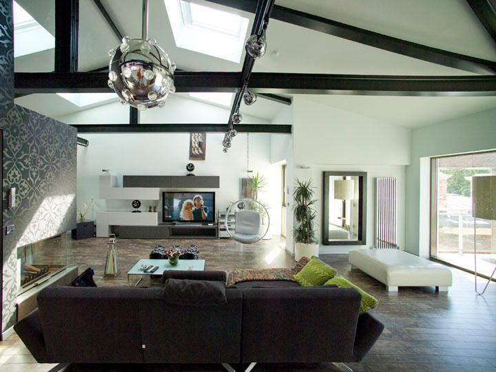 View of sitting room looking towards home cinema - LuxLoft, luxury 2 br apartment, Liepaja, Latvia - Liepaja - rentals