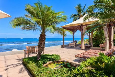 Turtle Beach Villa - A Beachfront Beauty with Pool, Jacuzzi & Home Theater - Image 1 - Maui - rentals