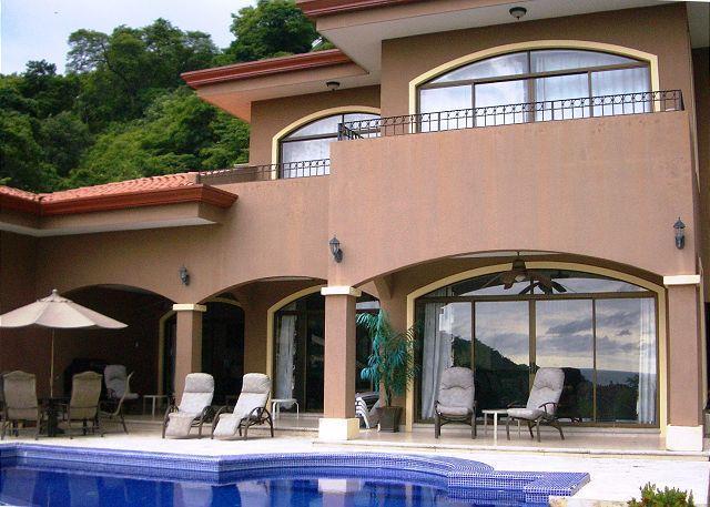 Spacious terraces surround the infinity pool. - Casa Aguas - Ocean View & Infinity Pool - Perfect - Playa Hermosa - rentals