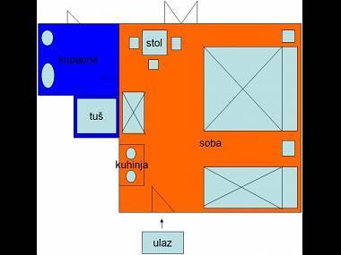 SA2(3): floor plan - 3450 SA2(3) - Tucepi - Tucepi - rentals