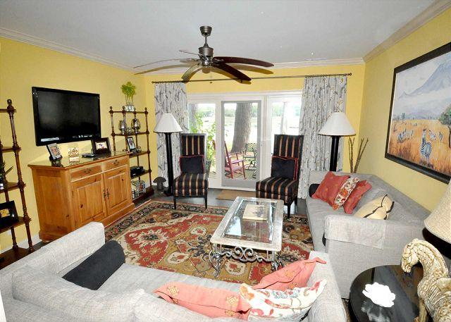 Living Area - 1620 Port Villa-FULLY RENOVATED and Wow views of Braddock Cove. - Hilton Head - rentals