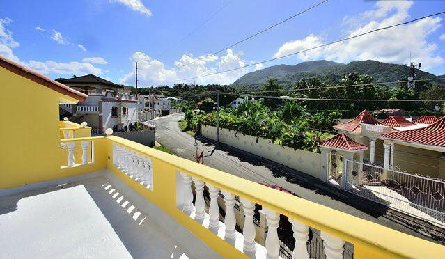 Balcony View of Street - 4 BR Spacious Villa w WIFI - Mountain view - Puerto Plata - rentals