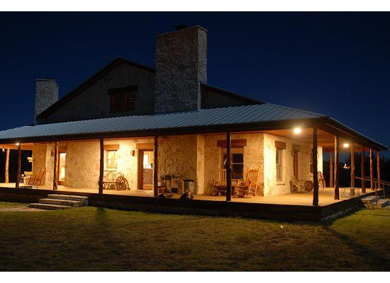 Ranch house at night Porch Lite - Beautiful Hill Country Lodge on James River!! - Mason - rentals