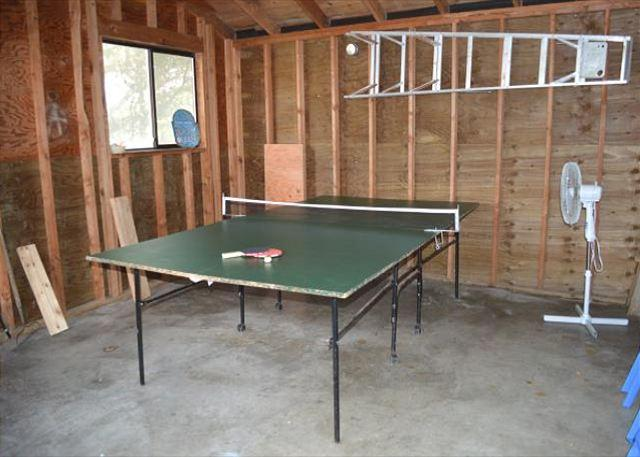 Garage with ping pong table. - SANDY SHORES~ MCA# 378~Oceanfront home and is walking distance to town - Manzanita - rentals