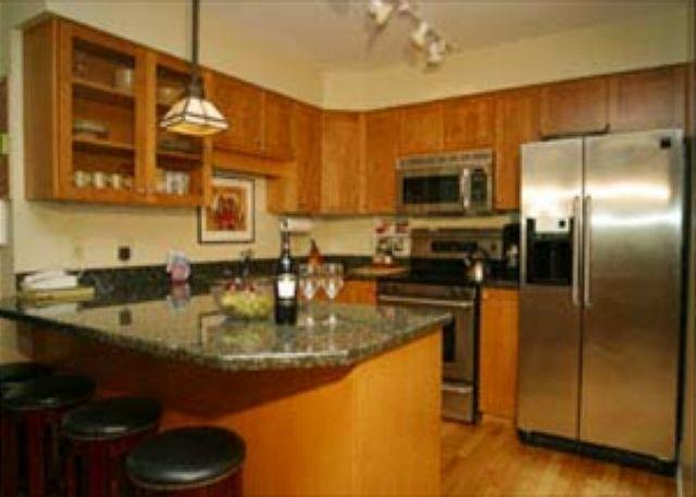 Kitchen - Luxury Two Bedroom Ski-in Ski-Out Whistler Accommodation at Greystone Lodge - Whistler - rentals