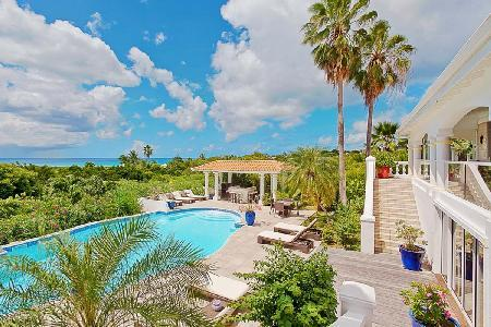Pamplemousse - Spacious villa with huge pool, poolside bar & gorgeous view - Image 1 - Terres Basses - rentals