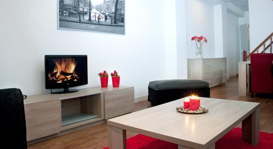 Living Room Damrak F Apartment Amsterdam - Damrak F - Amsterdam - rentals