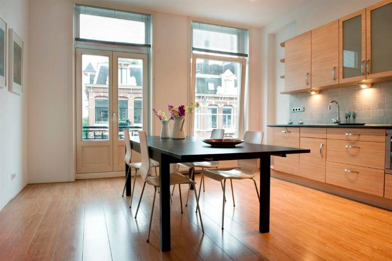 Livingroom, Dining table and Kitchen The Linnaeusstraat Pad apartment Amsterdam - The Linnaeusstraat Pad - Amsterdam - rentals