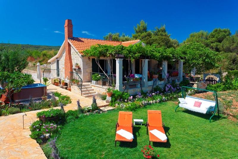 Lovely Villa With Olive Groves In A Beautiful Bay - Image 1 - Supetar - rentals