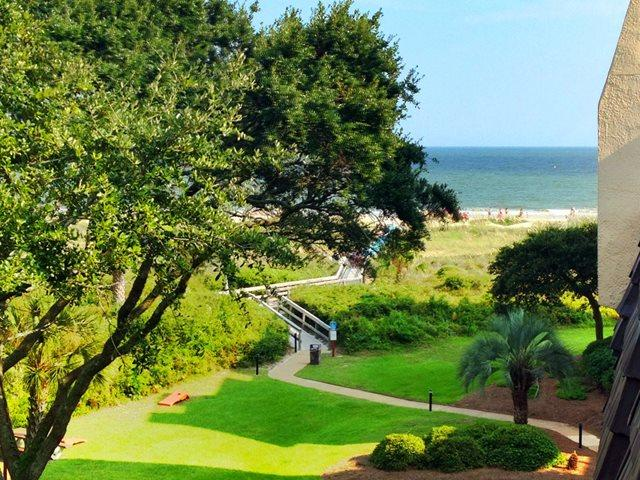 View of ocean - zoomed - Island Club, 1404 - Hilton Head - rentals
