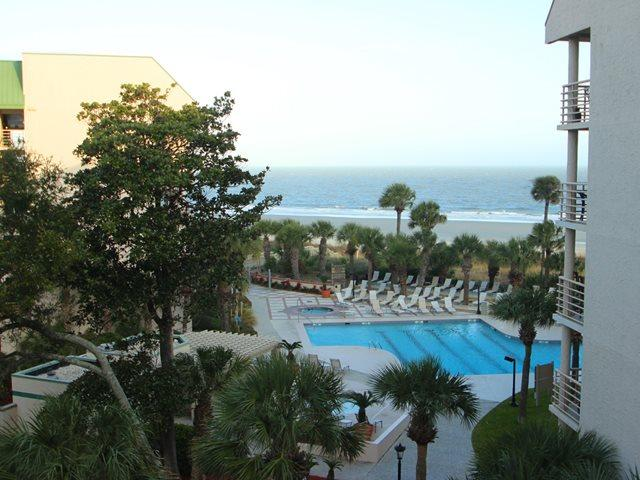 View of ocean and pool - Villamare, 3423 - Hilton Head - rentals