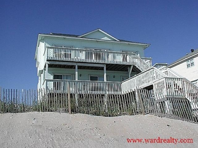 Oceanfront Exterior - Blue Skies - North Topsail Beach - rentals