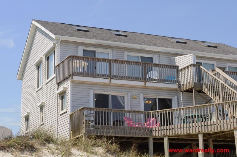 Oceanfront Exterior - Blue Whale Watch - Surf City - rentals