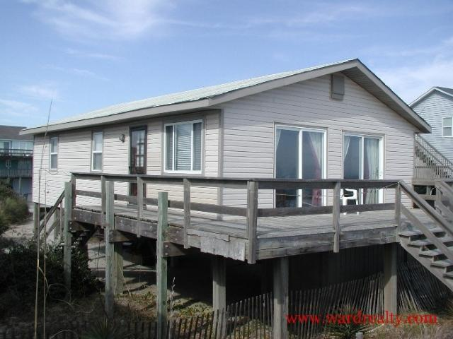 Oceanfront Exterior Sideview - Exuma - Surf City - rentals