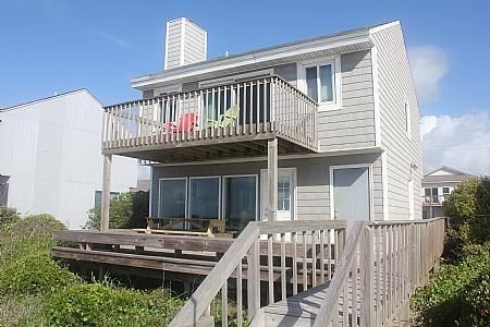 Oceanfront Exterior - Casa del Mar - Surf City - rentals