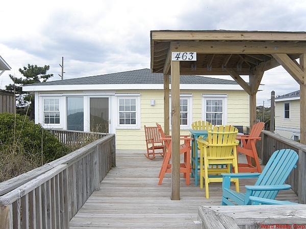 Oceanfront Exterior - Tumble Inn - Topsail Beach - rentals
