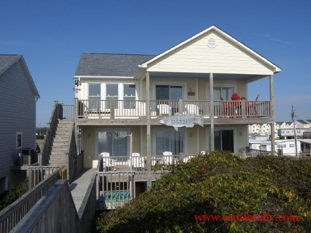 Oceanfront Exterior - The Sugar Shak - Surf City - rentals