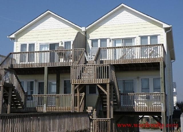 Oceanfront Exterior - Topsail Time - Surf City - rentals