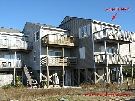 Oceanfront Exterior - Angel's Nest - Surf City - rentals