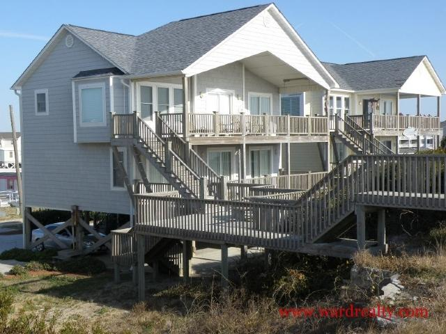 Oceanfront Exterior - What A Blessing - Surf City - rentals