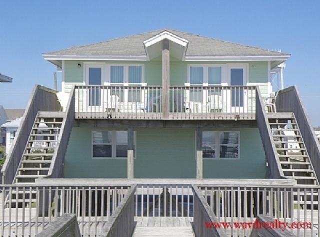 Oceanfront Exterior - Yawl Come South - Surf City - rentals