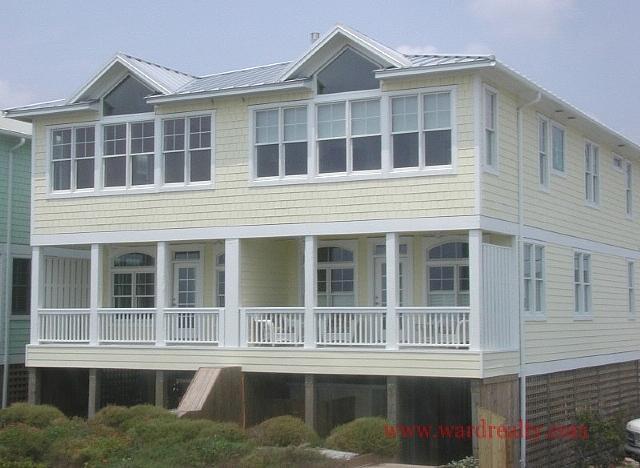 Oceanfront Exterior - A-Devine-View - Topsail Beach - rentals