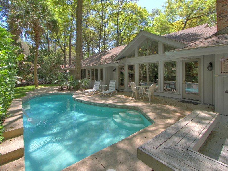 Deck and Pool Area at 20 Baynard Cove - 20 Baynard Cove Road - Hilton Head - rentals