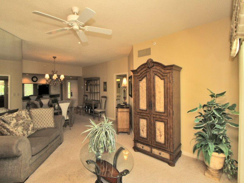 Living Room with Flat Screen at 308 Barrington Arms - 308 Barrington Arms - Palmetto Dunes - rentals
