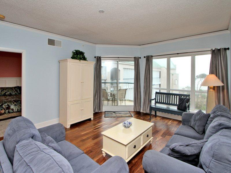 Living Room with Ocean Views at 3503 Windsor Court South - 3503 Windsor Court South - Hilton Head - rentals