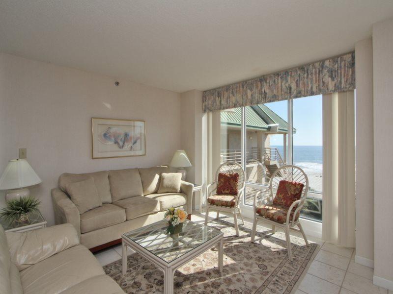 Living Room with Ocean Views at 3532 Villamare - 3532 Villamare - Palmetto Dunes - rentals