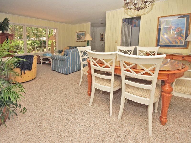 Dining Room and Living Room at 4 Cedar Wax Wing - 4 Cedar Wax Wing - Sea Pines - rentals