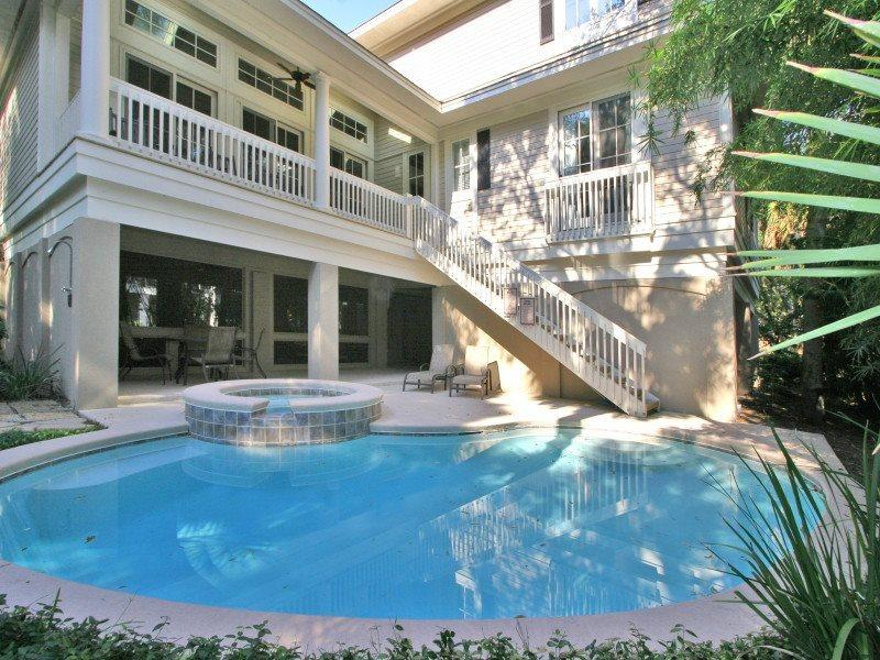 Pool and Spa at 4 Juniper Lane - 4 Juniper Lane - Hilton Head - rentals