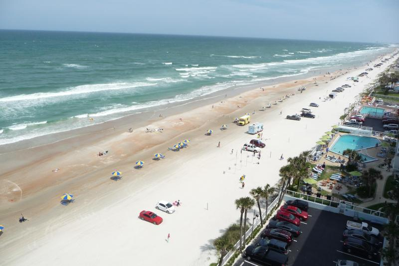 Oceanfront view from our private Balcony - OCEANFRONT CONDO/Free WiFi, 3 HD TVs - NON-SMOKING - Daytona Beach - rentals