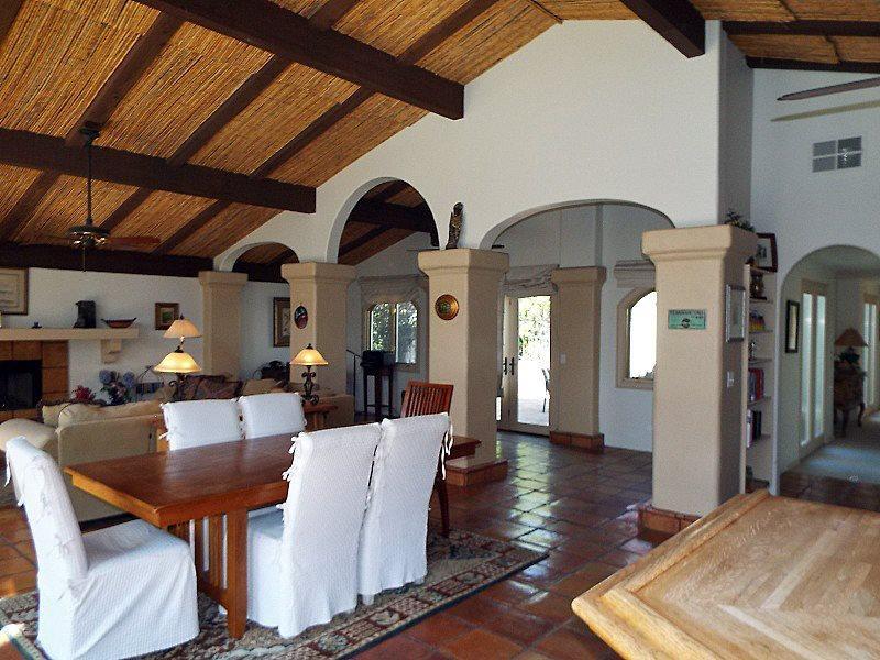 Dining Room Looking to Living Room - Baronas Hacienda - Palm Springs - rentals