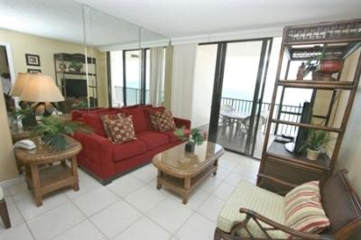 Living Room - SeaWin1704 - Sea Winds - Marco Island - rentals