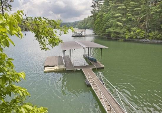 LAKE HIDEAWAY- 4BR/3BA- LAKE CABIN WITH MOUNTAIN VIEW SLEEPS 12, LOCATED NEXT DOOR TO LAKESIDE LODGE, PRIVATE DOCK, CHARCOAL GRILL, PING PONG, PET FRIENDLY, HOT TUB, SAT TV, FIRE PIT, WOOD BURNING FIREPLACE! STARTING AT $250/NIGHT! - Image 1 - Blue Ridge - rentals