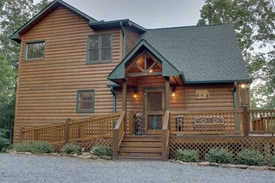 MOUNTAIN TOPS SERENITY--3 BR/3 BA, SPECTACULAR MTN VIEW, WI-FI, LARGE HOT TUB, SCREENED PORCHES, POOL TABLE, FOOSBALL, GAS LOG FIREPLACE, GAS GRILL, SMALL DOGS WELCOME, STARTING AT $160/NIGHT! ***5 MIN FROM DOWNTOWN **WHEEL CHAIR ACCESSIBLE** - Image 1 - Blue Ridge - rentals