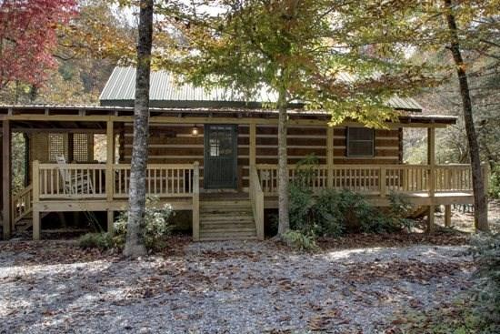 TOCCOA RIVER LOG CABIN--3BR/1BA,AUTHENTIC DOVE TAIL CABIN ON THE TOCCOA RIVER, GREAT TROUT FISHING, TUBING, CHARCOAL GRILL, WIFI, WOOD BURNING FIREPLACE, KAYAKING, PETS WELCOME, ONLY $155/NIGHT! - Image 1 - Blue Ridge - rentals