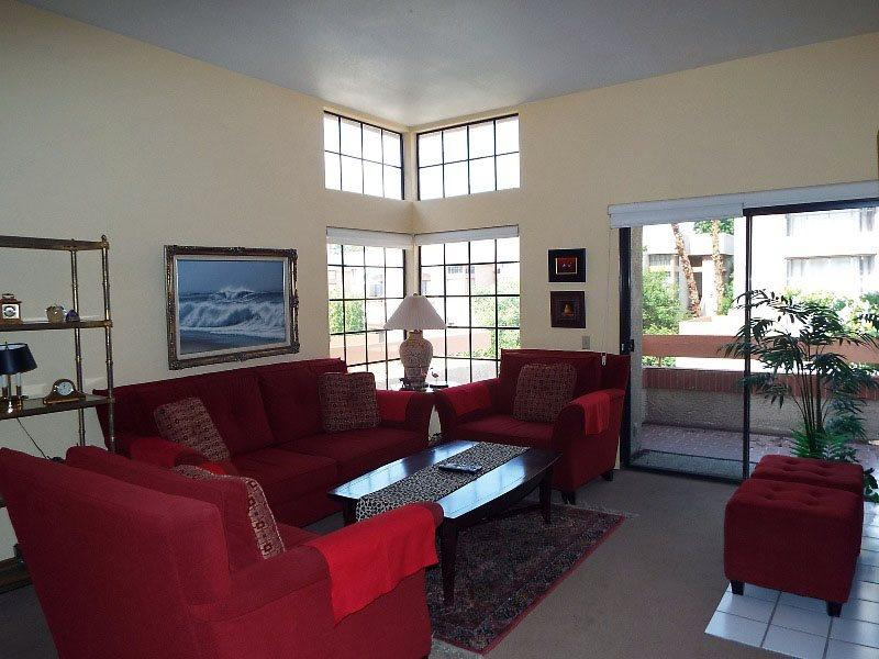 Living Room Looking to Balcony - Summerset Springs Two Bedroom #87 - Cathedral City - rentals