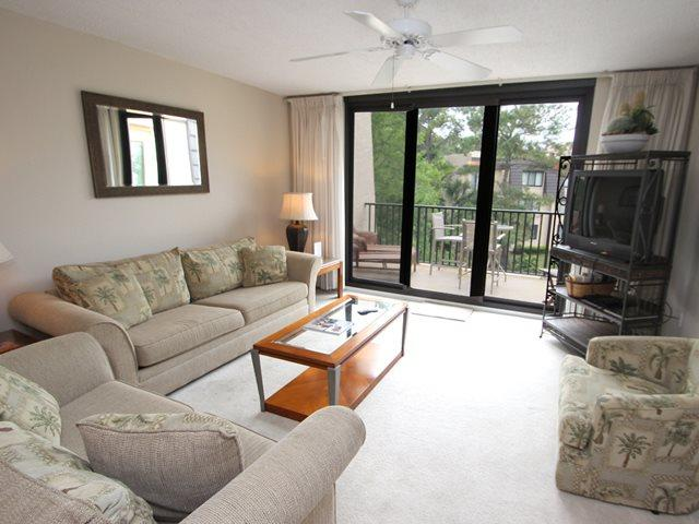 Living area - Island Club, 4306 - Hilton Head - rentals