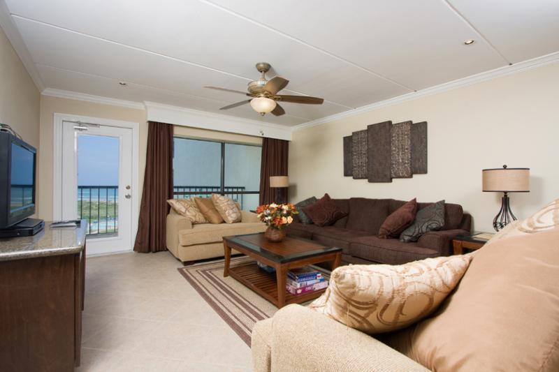 Living Area - 2 Bedroom 2 Bathroom Beach Front Gem! - South Padre Island - rentals