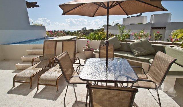 private terrace and plunge pool - Bosque de los Aluxes UNIT 302 - Private Pool - Playa del Carmen - rentals