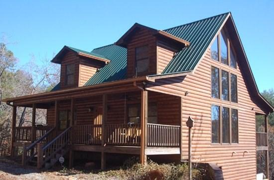 THE BOONDOCKS*MTN VIEW CABIN~TWO BEDROOM SUITES WITH KING SIZE BEDS~HOT TUB~WIFI~GAS LOG FIREPLACE~SLEEPS 6~JUST REDUCED TO ONLY $120/NIGHT! - Image 1 - Blue Ridge - rentals
